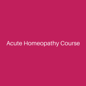 Acute Homeopathy Course Only