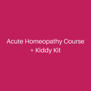 Acute Homeopathy Course + Kiddy Kit