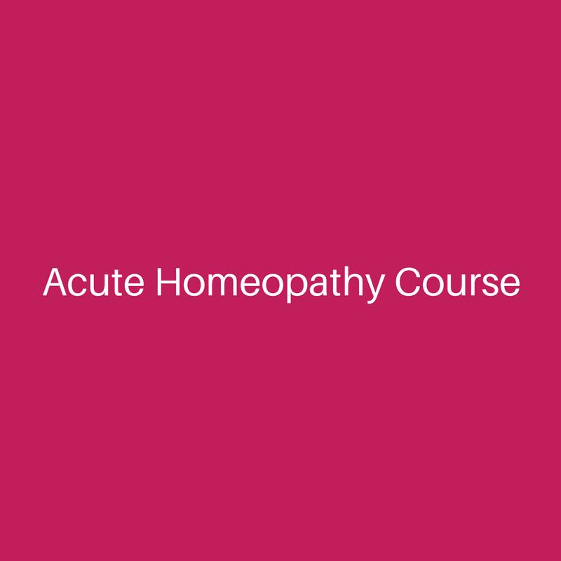 Acute Homeopathy Module 3
