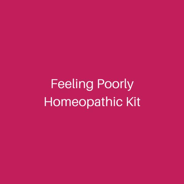 homeopathy feeling poorly kit